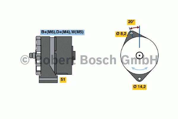 Alternateur - BOSCH - 0 120 469 014