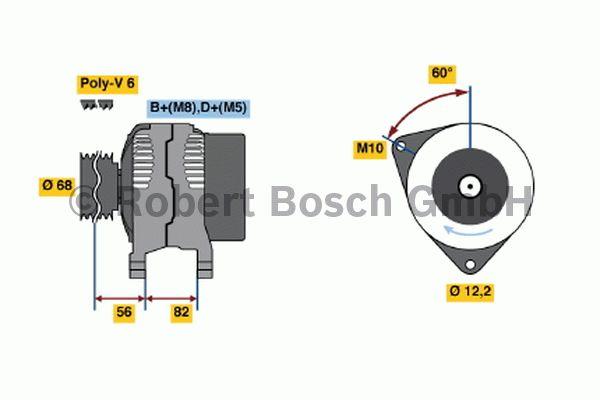 Alternateur - BOSCH - 0 123 320 066