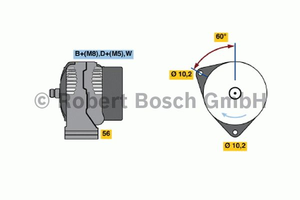 Alternateur - BOSCH - 0 123 515 503