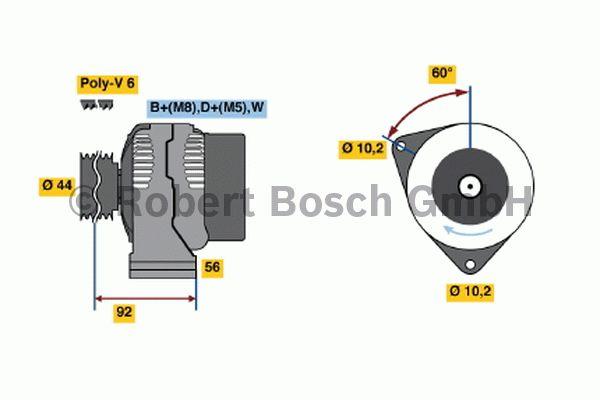 Alternateur - BOSCH - 0 123 540 002