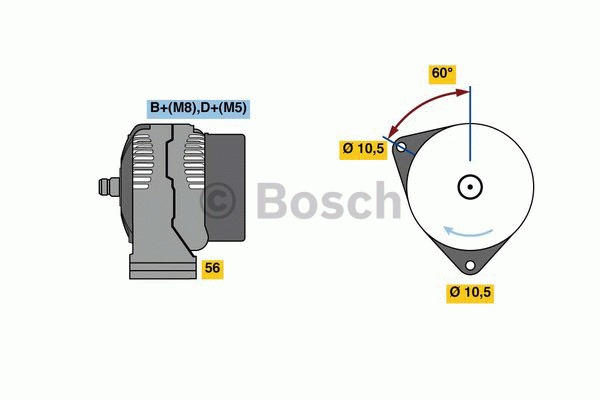 Alternateur - BOSCH - 0 124 615 053
