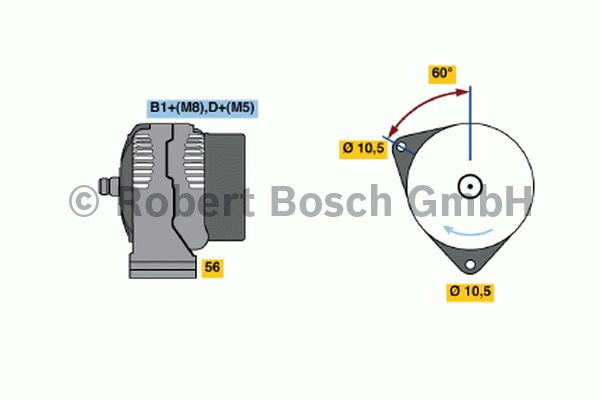 Alternateur - BOSCH - 0 124 625 031