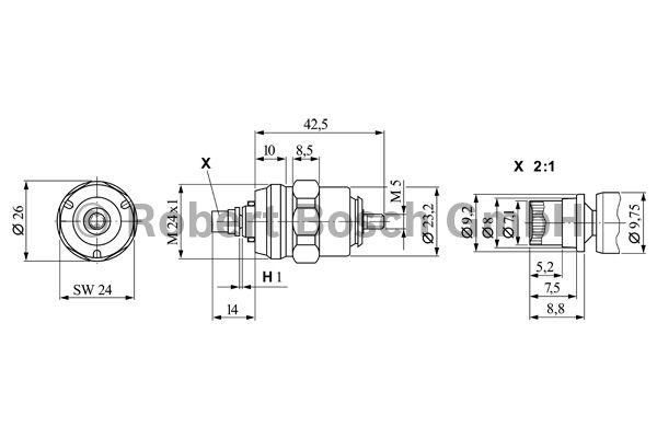 Dispositif d'arrêt, système d'injection - BOSCH - 0 330 106 012
