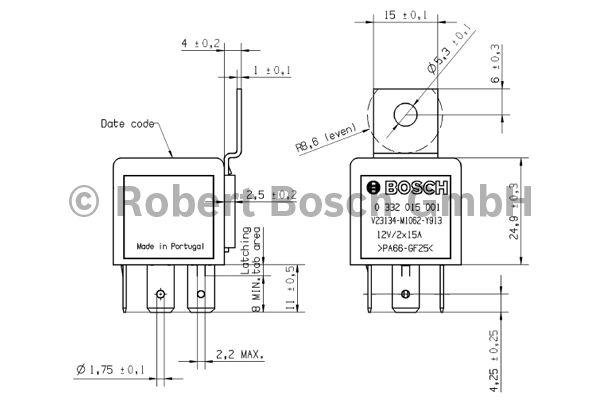 Relais - BOSCH - 0 332 015 001