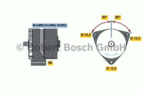 Alternateur - BOSCH - 6 033 GB3 055