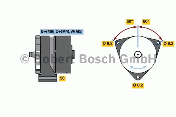 Alternateur - BOSCH - 0 120 489 730