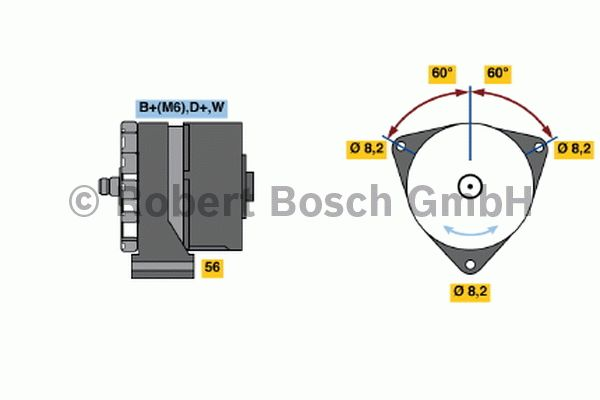 Alternateur - BOSCH - 0 120 489 710