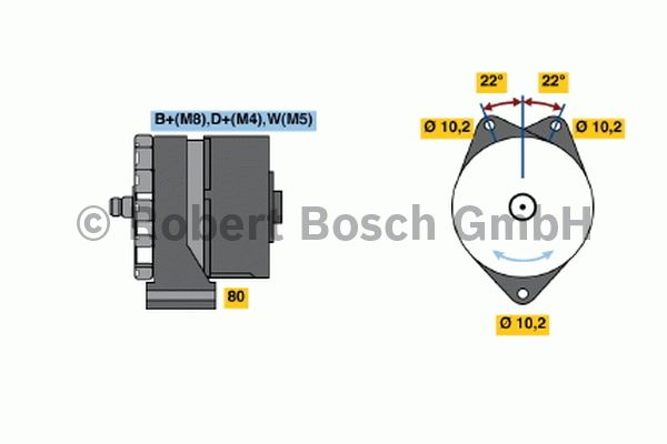 Alternateur - BOSCH - 0 120 469 891