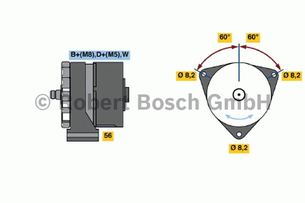 Alternateur - BOSCH - 6 033 GB2 009