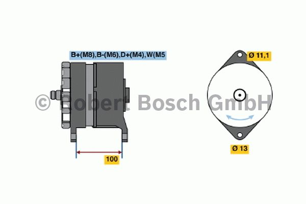 Alternateur - BOSCH - 6 033 GB3 020