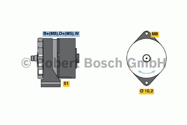 Alternateur - BOSCH - 0 120 488 205