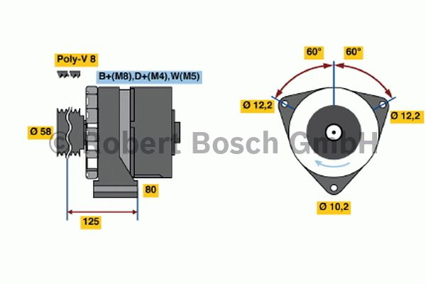 Alternateur - BOSCH - 6 033 GB3 010