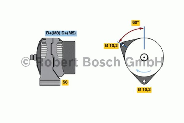 Alternateur - BOSCH - 0 124 615 043