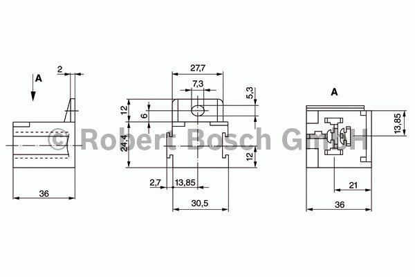 Manchon de fiche, système d'allumage - BOSCH - 3 334 485 008