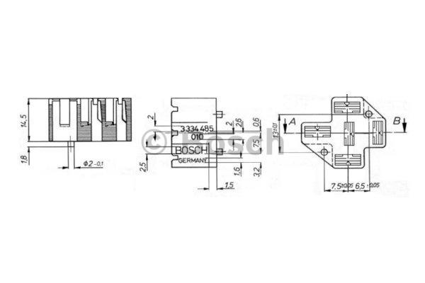 Manchon de fiche, système d'allumage - BOSCH - 3 334 485 010