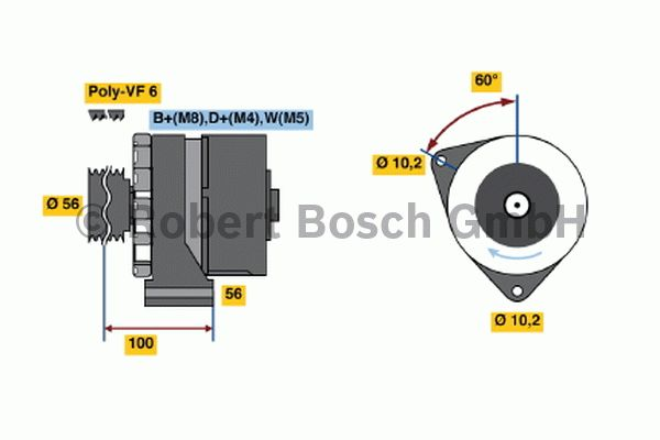 Alternateur - BOSCH - 6 033 GB3 030