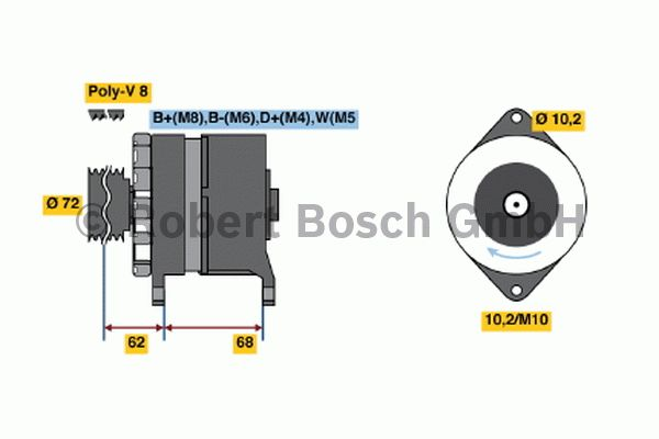 Alternateur - BOSCH - 6 033 GB3 035