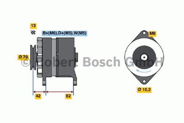 Alternateur - BOSCH - 6 033 GB3 059
