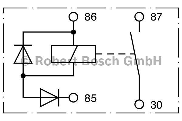 Relais - BOSCH - 0 332 002 256