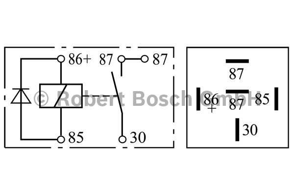 Relais - BOSCH - 0 332 019 155