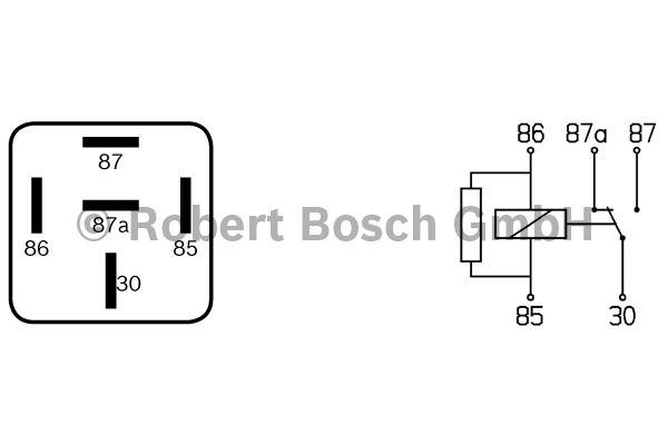 Relais - BOSCH - 0 332 204 207