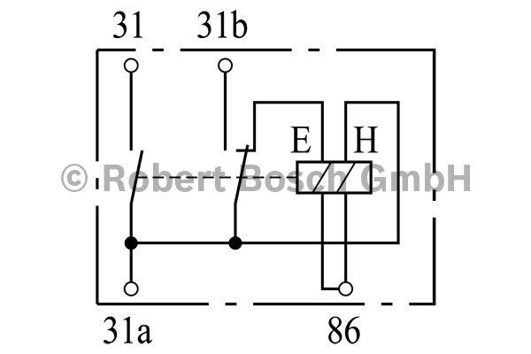 Relais de batterie - BOSCH - 0 333 301 007