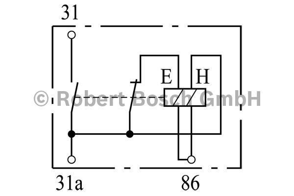 Relais de batterie - BOSCH - 0 333 301 009
