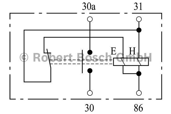 Relais de batterie - BOSCH - 0 333 301 015
