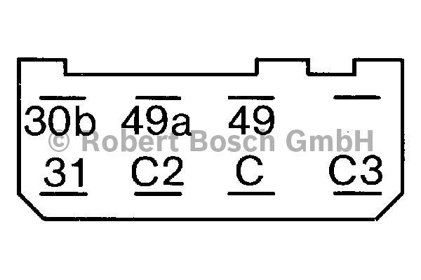 Centrale clignotante - BOSCH - 0 335 210 063