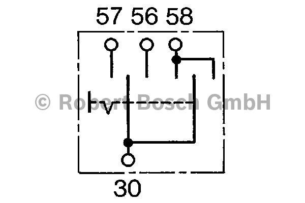 Interrupteur, lumière principale - BOSCH - 0 341 100 001