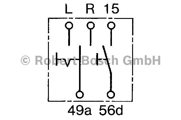 Comodo de clignotant - BOSCH - 0 341 810 006