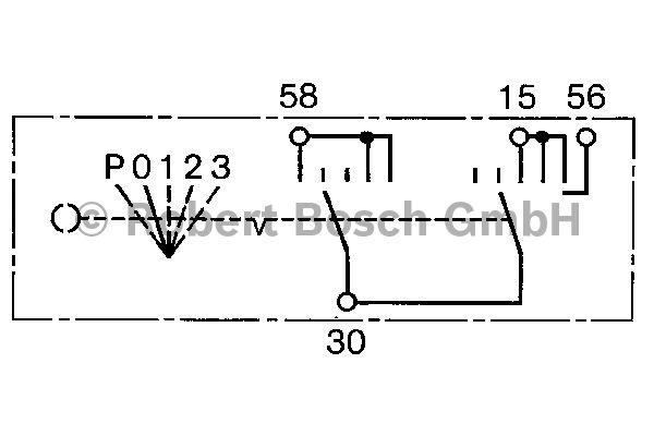 Interrupteur d'allumage/de démarreur - BOSCH - 0 342 202 001