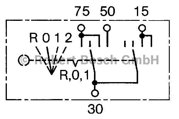 Interrupteur d'allumage/de démarreur - BOSCH - 0 342 309 005