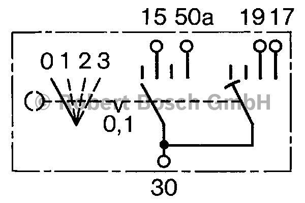 Interrupteur, préchauffage - BOSCH - 0 342 315 001