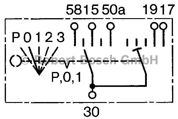 Interrupteur, préchauffage - BOSCH - 0 342 316 003