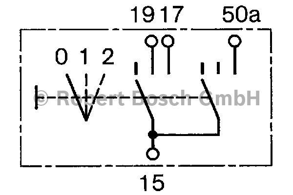 Interrupteur, préchauffage - BOSCH - 0 343 008 009