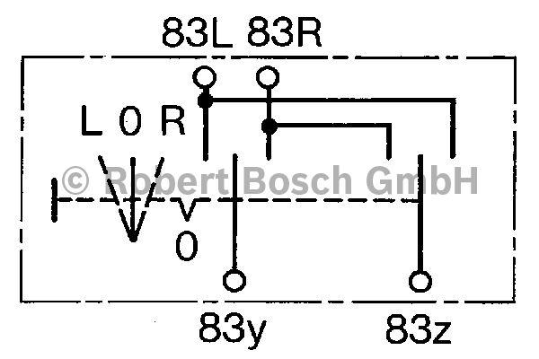 Interrupteur, lève-vitre - BOSCH - 0 343 302 003