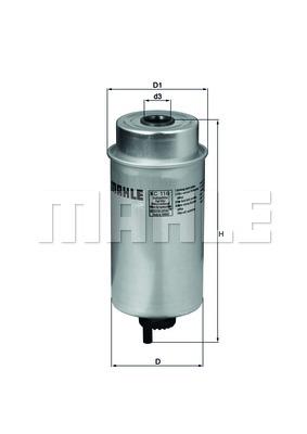 Filtre à carburant - KNECHT - KC 116
