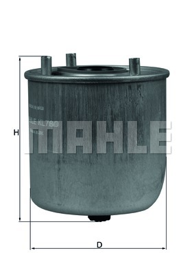 Filtre à carburant - KNECHT - KL 780