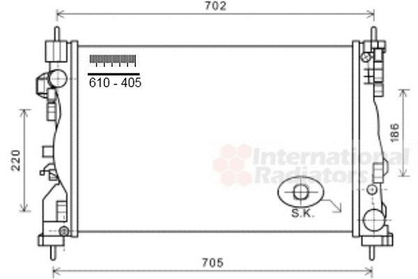 Radiateur, refroidissement du moteur - VAN WEZEL - 01002121