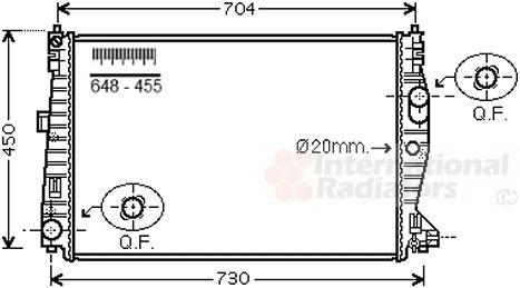 Radiateur, refroidissement du moteur - VAN WEZEL - 01002132