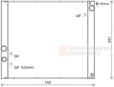 Radiateur, refroidissement du moteur - VAN WEZEL - 02002207