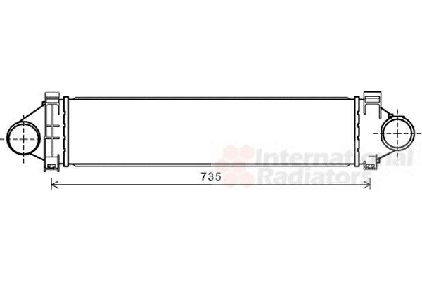 Intercooler, échangeur - VAN WEZEL - 02004213