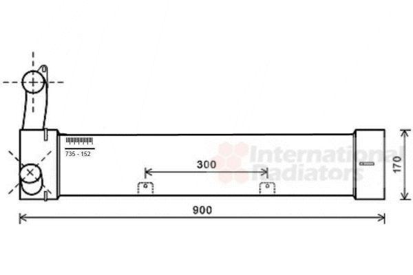 Intercooler, échangeur - VAN WEZEL - 02004214