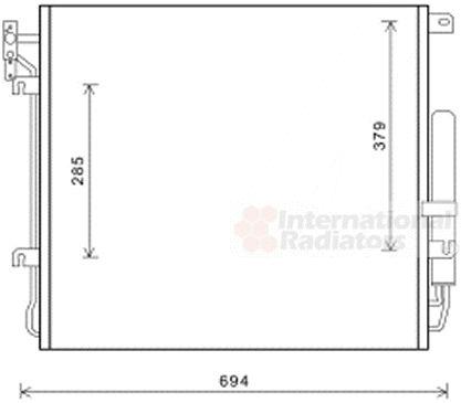 Condenseur, climatisation - VAN WEZEL - 02005209