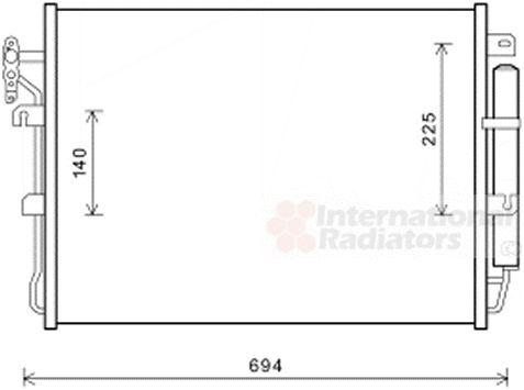 Condenseur, climatisation - VAN WEZEL - 02005215