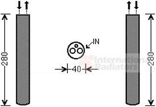 Filtre déshydratant, climatisation - VAN WEZEL - 0200D216