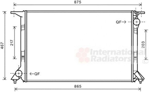 Radiateur, refroidissement du moteur - VAN WEZEL - 03002331