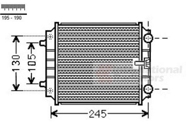 Radiateur, refroidissement du moteur - VAN WEZEL - 03002336