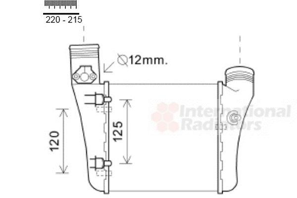 Intercooler, échangeur - VAN WEZEL - 03004333